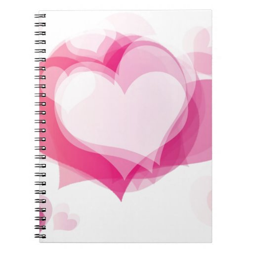 love hearts spiral note books