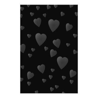 Love Hearts Pattern in Black and Gray. Custom Flyer