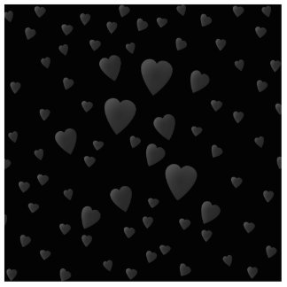 Love Hearts Pattern in Black and Gray. Photo Sculpture Badge