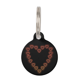 Love hearts. pet tag