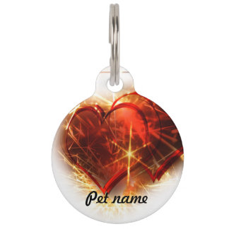 Love hearts pet tag