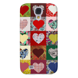Love Hearts Quilt Galaxy S4 Case