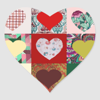 Love Hearts Quilt Stickers