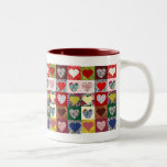 Love Hearts Quilt Two-Tone Mug