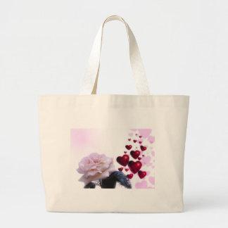 Love Hearts Roses Blossom Flower Destiny Nature Tote Bag