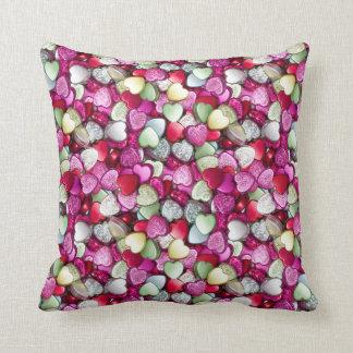 Love Hearts Sweet Candy Cushion