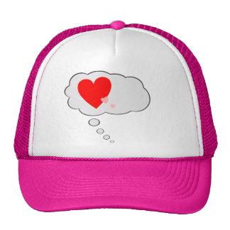 Love Hearts Thinking Bubble Hat