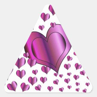 Love Hearts Triangle Sticker