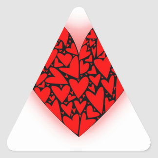 Love Hearts Triangle Sticker