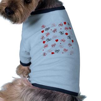 Love & Hearts Word Art Pattern Ringer Dog Shirt