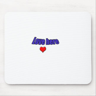 Love here mouse pad