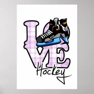 Love Hockey Poster