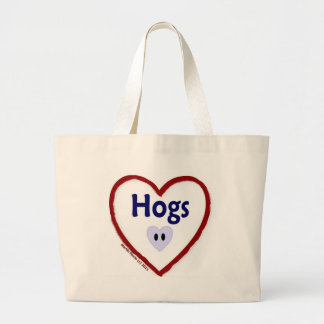 Love Hogs Tote Bags