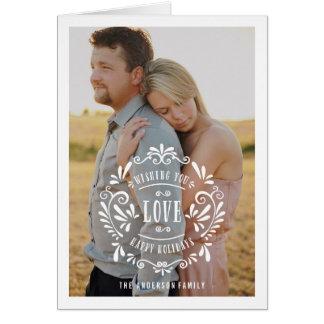 Love | Holiday Photo Greeting Card