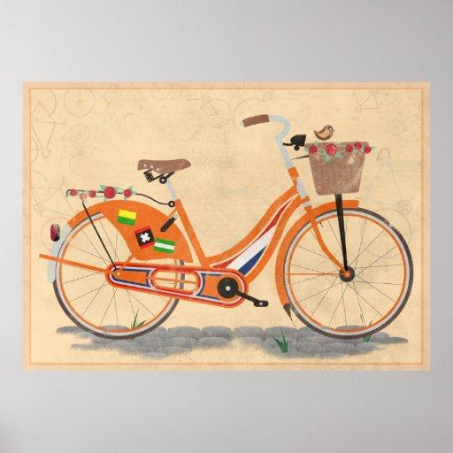 Love Holland, Love Bike Print
