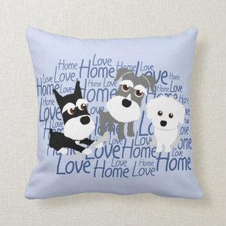 Love, Home - Custom Schnauzer Pillow