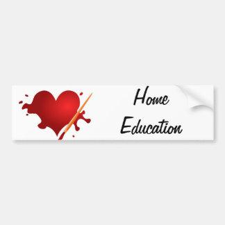 Love Home Education Bumper Sticker