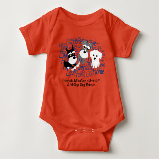Love, Home - Schnauzer Custom Baby Outfit - T-shirt