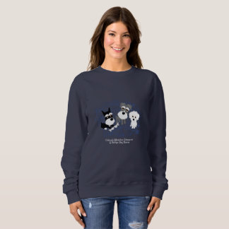 Love, Home - Schnauzer Dark Sweatshirt (Women)