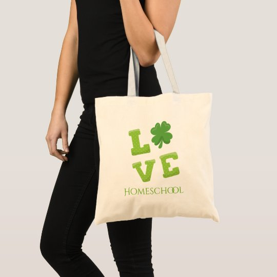 Love Homeschool St Patricks Day Tote Bag