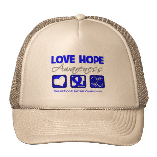 Love Hope Awareness Anal Cancer Mesh Hat