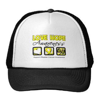 Love Hope Awareness Bladder Cancer Trucker Hat