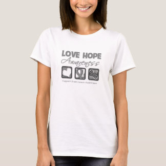 Love Hope Awareness Brain Cancer T-Shirt