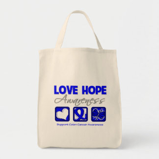 Love Hope Awareness Colon Cancer Bags