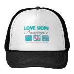 Love Hope Awareness Hereditary Breast Cancer Cap