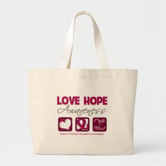 Love Hope Awareness Multiple Myeloma Jumbo Tote Bag