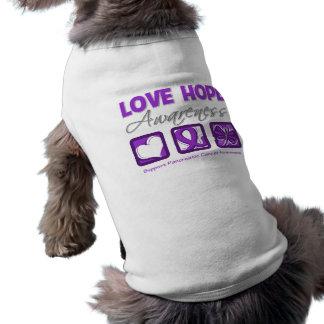 Love Hope Awareness Pancreatic Cancer Dog Clothing