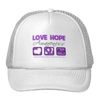 Love Hope Awareness Pancreatic Cancer Hat