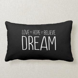 Love. Hope. Believe. Dream. Lumbar Cushion