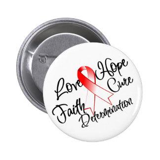 Love Hope Determination - Aplastic Anemia 6 Cm Round Badge