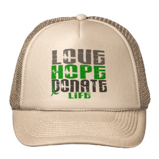 LOVE HOPE DONATE LIFE T-Shirts, Gifts, & Apparel Mesh Hats