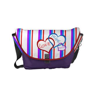 Love, Hope, Dream white Commuter Bag