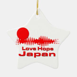 Love hope Japan Ceramic Star Decoration