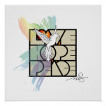 Love, Hope & Peace Dove Poster