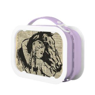 Love Horse Girls's Purple Vintage Yubo Lunchbox