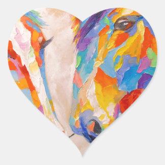 Love horses heart sticker