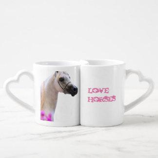 love horses. horse collection. coffee mug set