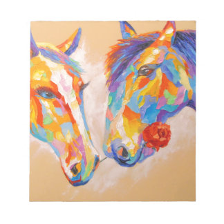 Love horses notepads