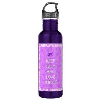 Love Horses purple 710 Ml Water Bottle