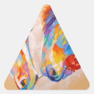 Love horses triangle sticker
