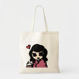 Love hot chocolate budget tote bag