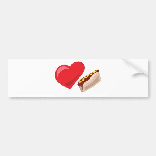 Love hot dogs!  Customisable: Bumper Sticker