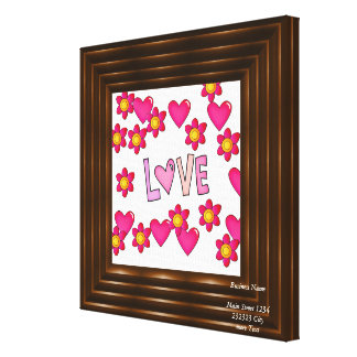 love,hot pink gallery wrapped canvas