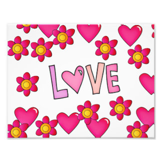 love,hot pink photographic print
