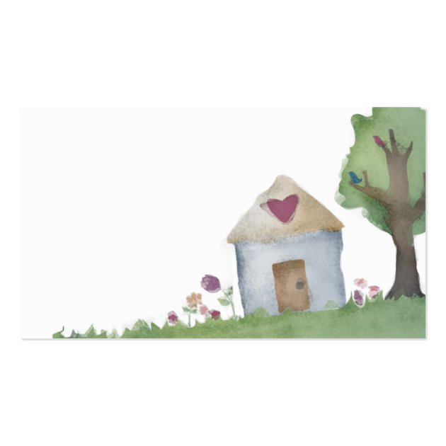 Love house home garden business card for Lovers home