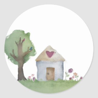 love house home garden gift packaging stickers